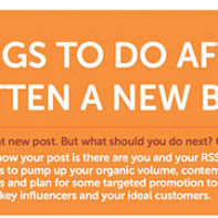 12 Things You Should Be Doing After Publishing a New Post (Infographic)
