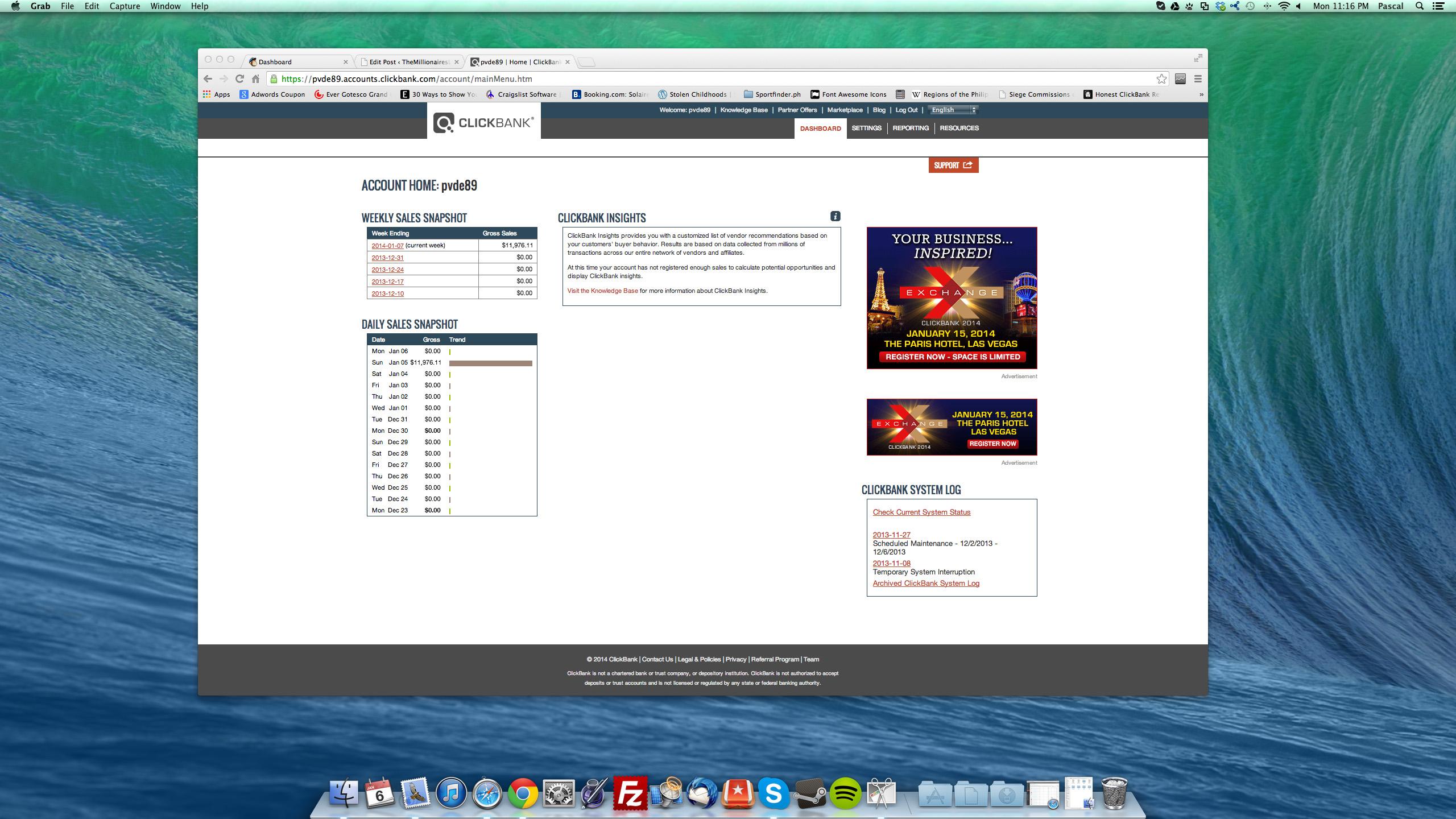 clickbank earnings screenshot