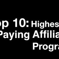Top 10: highest paying affiliate programs
