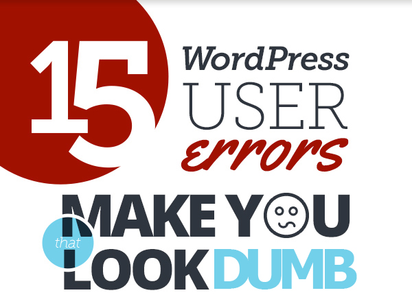 15 Blogging Errors That Make You Look Dumb! (Infographic)